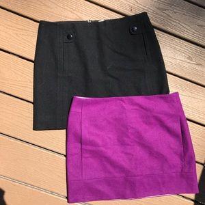 J-crew wool mini skirts
